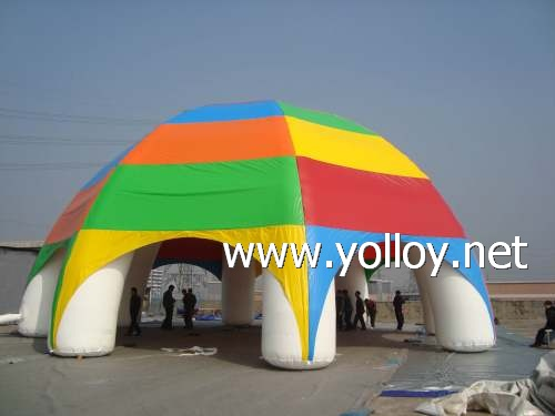 Inflatable spider exhibition dome tent for advertising