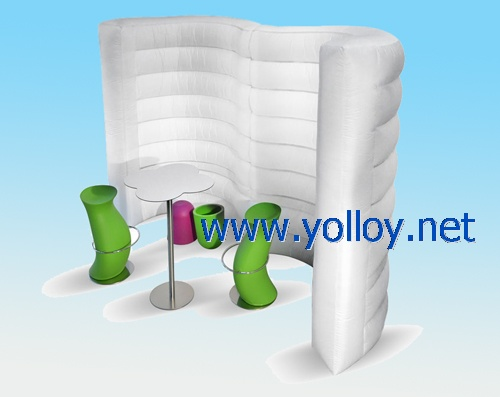wave shape inflatable wall for indoor room
