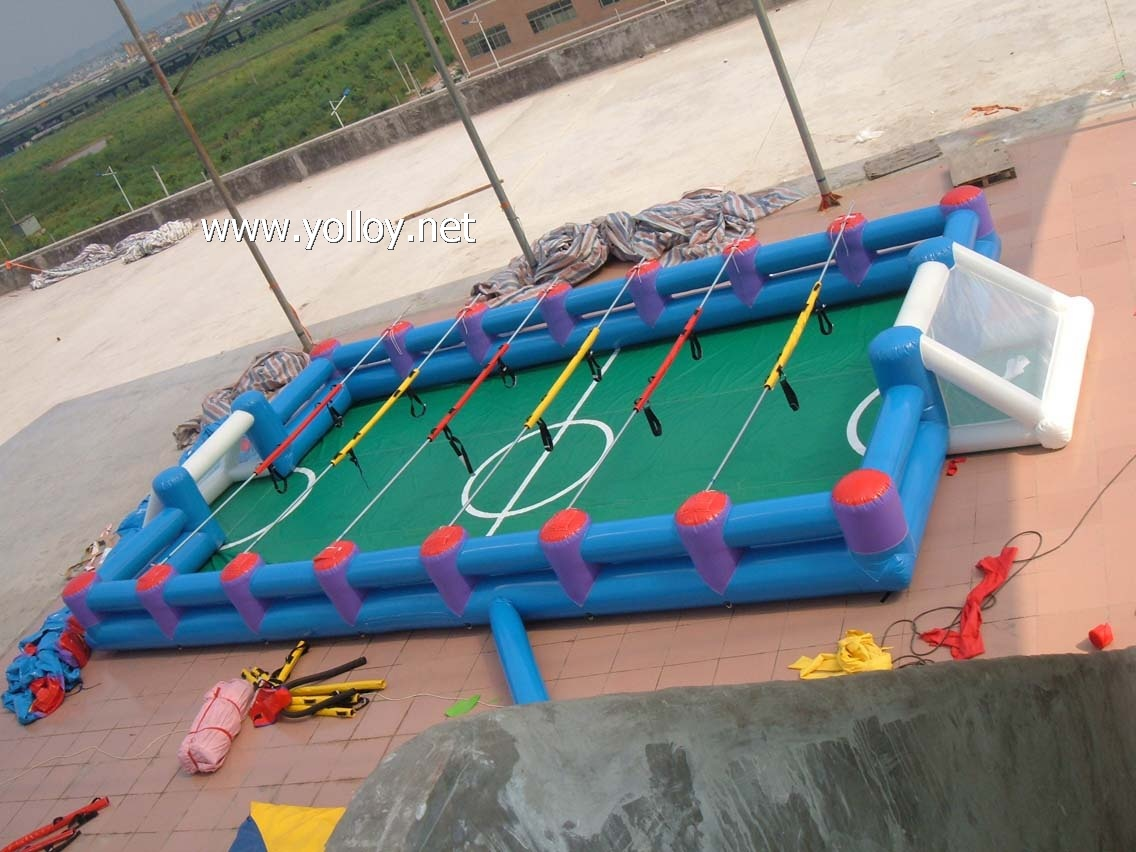 inflatable football field bandage game