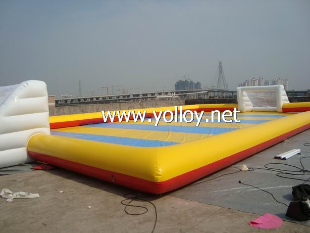Inflatable Soccer Arena with goal post