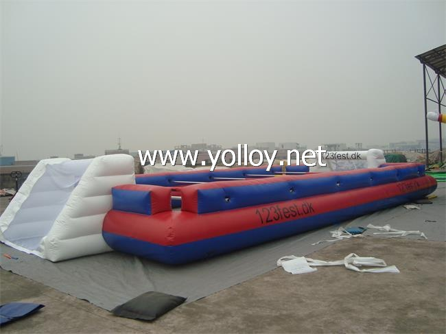football game of inflatable football pitch