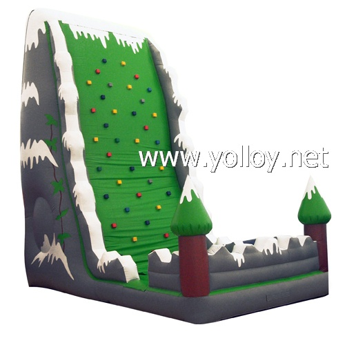 Inflatable rock Climbing Wall bouncy castle