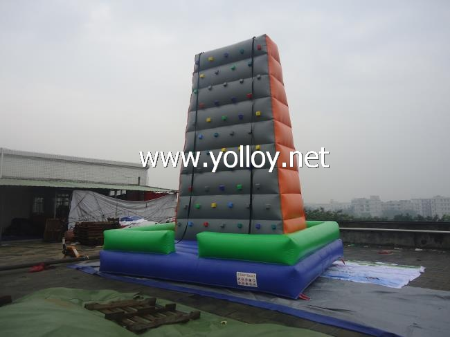 Obstacle sports Inflatable Rock climbing wall