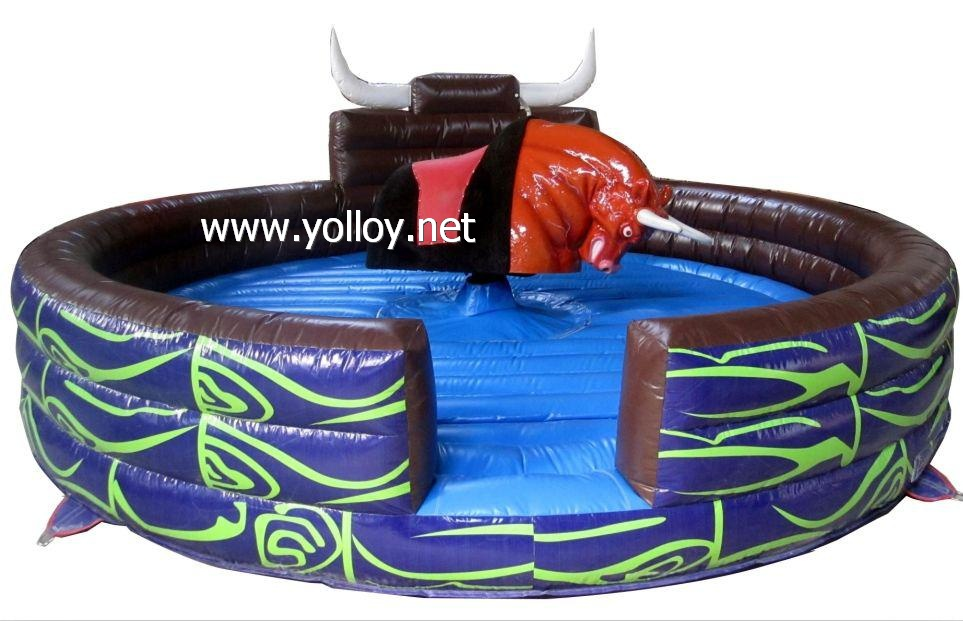 Great fun inflatable Rodeo Bull bounce castle