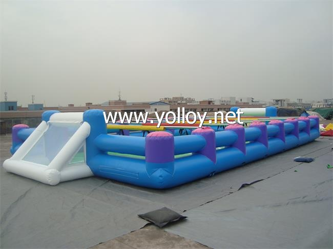 Human Table foodball inflatable giant football pitch