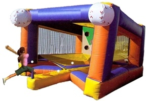 Children interative inflatable Baseball run through game