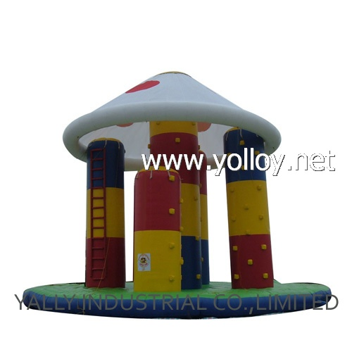 inflatable mushroom rock climbing game