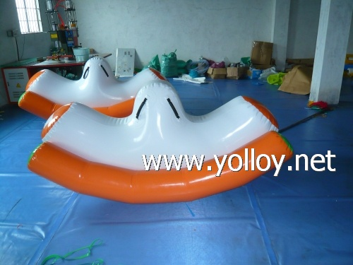 fun water toys inflatable teetor totter pool game