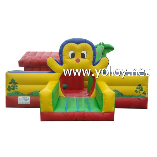Penguin inflatable theme park  bounce castle