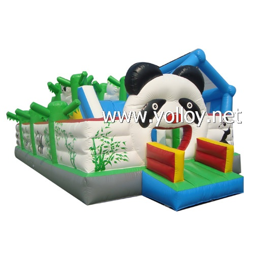 lovely Panda inflatable theme park jumper