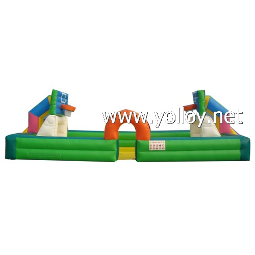 inflatable trampoline basketball goal for kids