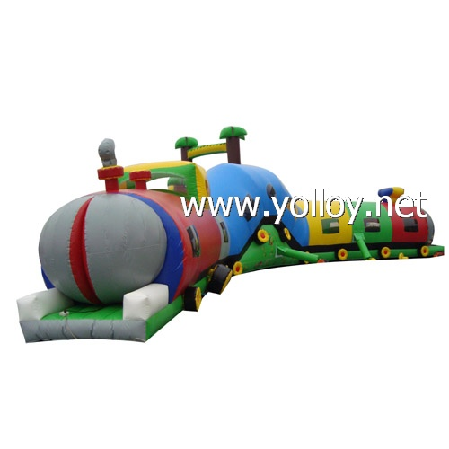 inflatable tunnel Caterpillar Maze Inflatable train tunnel