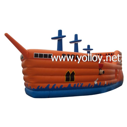 Great fun Cool Pirate Ship inflatable bouncy castle