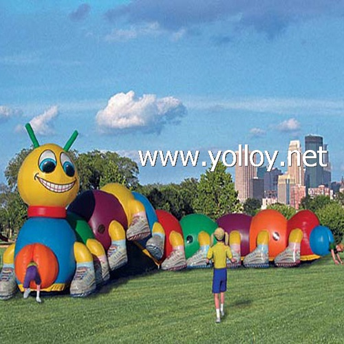 Inflatable caterpillar tunnel great fun for childrens party