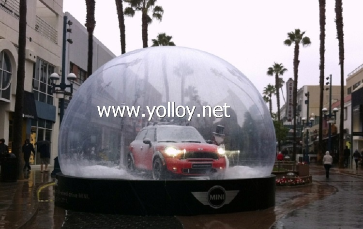 huge clear Christmas snow globe product