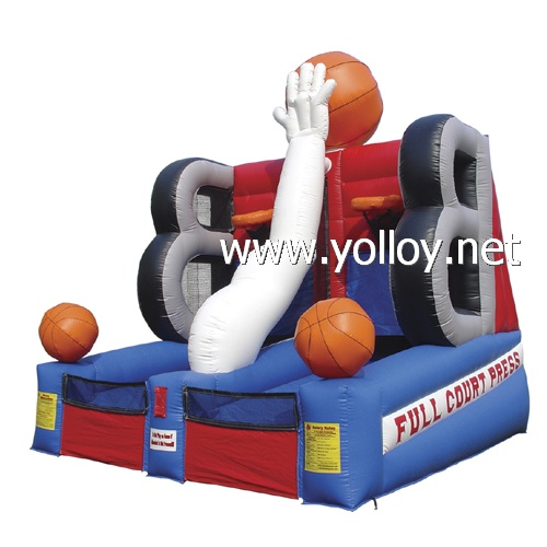 inflatable trampoline basketball goal