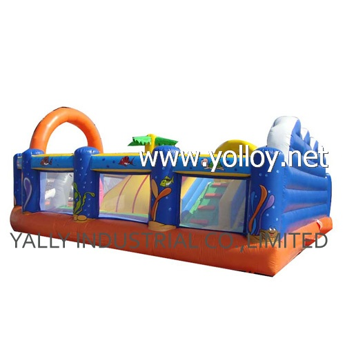 Paradise inflatable slide Ladder bouncy castle