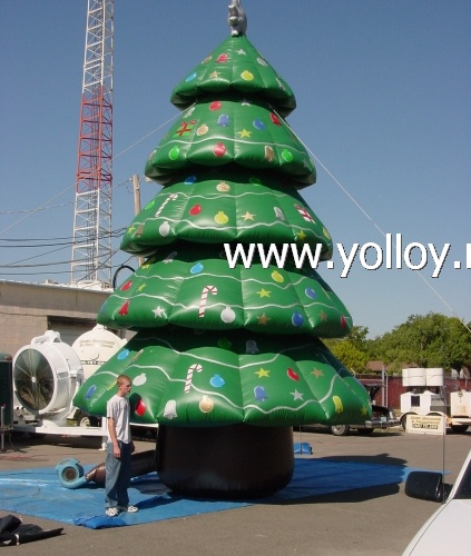 Yolloy large outdoor inflatable Christmas decoration tree ...