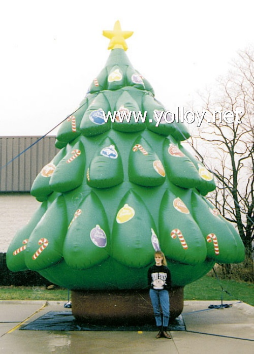 inflatable christmas tree during xmas - Outdoor Blow Up Christmas Decorations