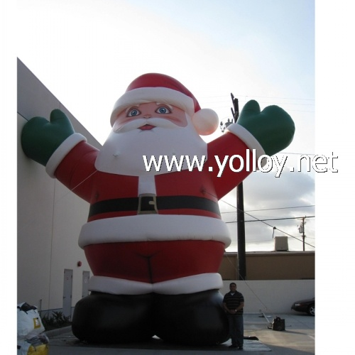 giant santa inflatable Christmas decoration