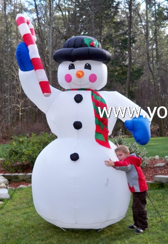 blow up snowman inflatable xmas outdoor decoration - Christmas Blow Up Decorations Outside