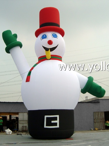 christmas decorations giant snowman inflatable outdoor