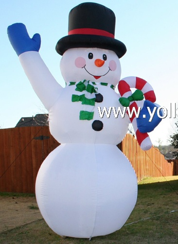 snowman decorations huge inflatables snowman