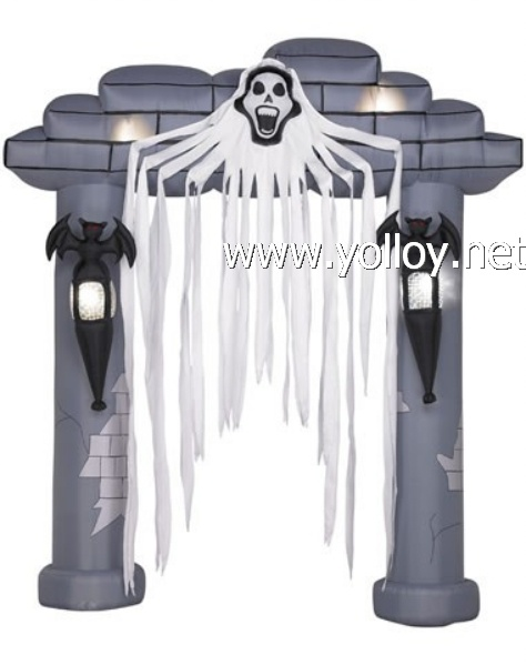 Halloween wholesale Air blown Inflatable Floating Reaper Archway