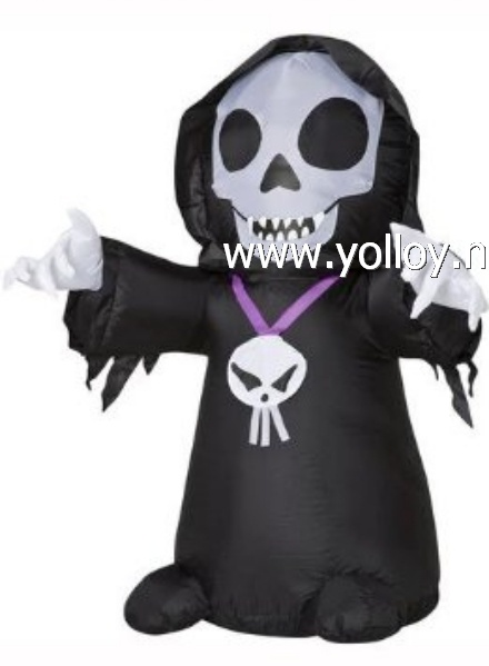 Yard decorations Grim Reaper Skeleton Airblown 4 Ft Tall Halloween Inflatable