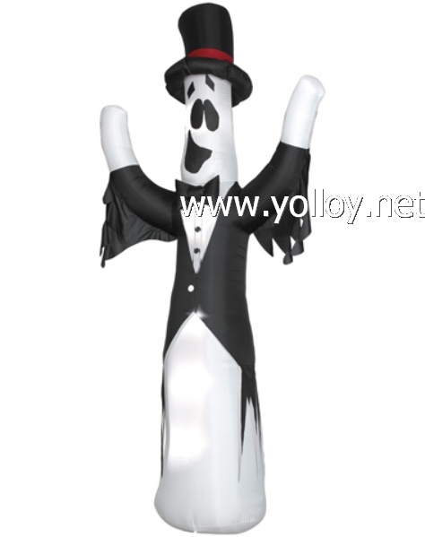 wholesales yard decorations Giant Ghost With Top Hat Airblown Inflatable