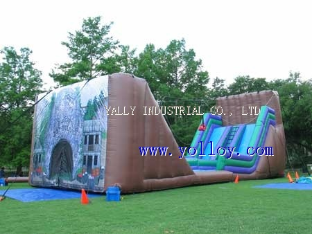 large Dry Gulch Zipline--mobile inflatable zip line