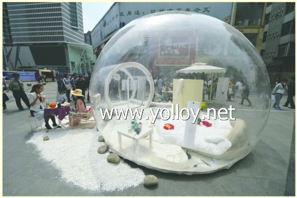 clear inflatable lawn bubble ... & Yolloy clear inflatable lawn bubble tent for outdoor for sale