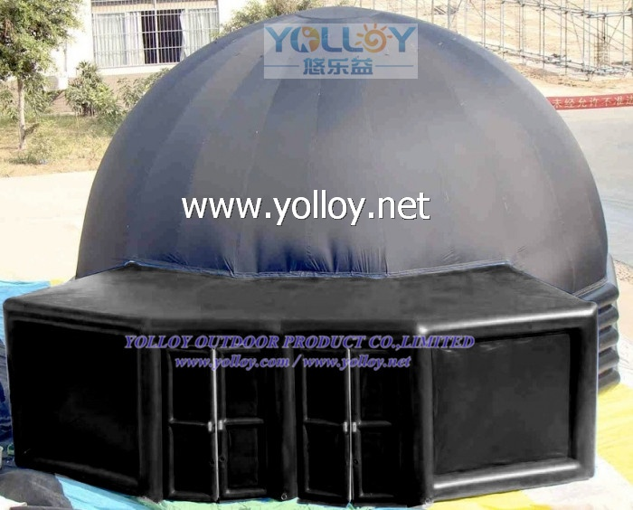 Size: 10m for dome, about 