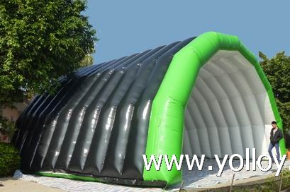 inflatble stage cover air roof tent for outdoor party activity