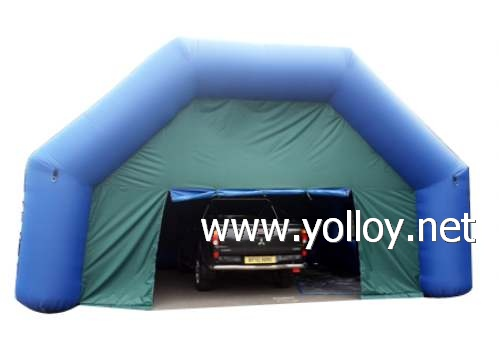 Temporary inflatable repair workshop for car spray paint