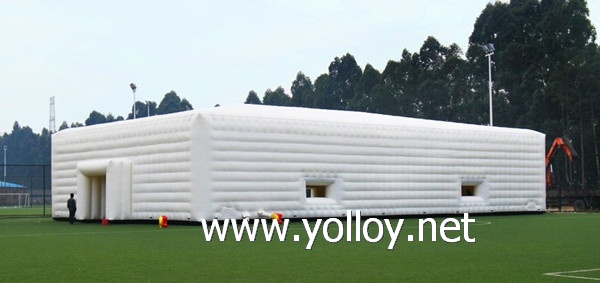large white inflatable party event marquee tent