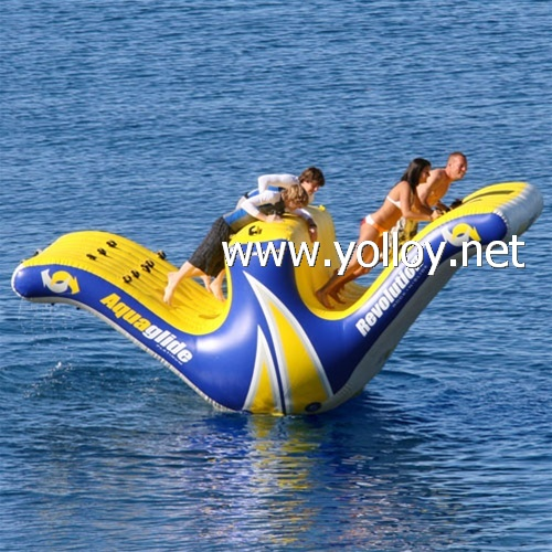 Inflatable Water Slide China: Yolloy Inflatable Water Totter Slide Floating Climbing For