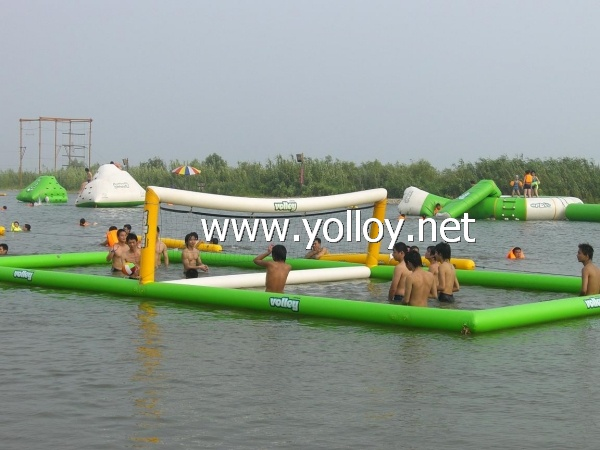 water floating inflatable volleyball court