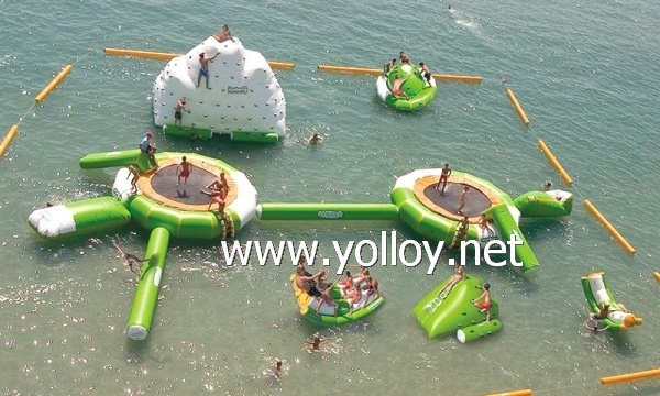 Outdoor water amusement park for water sports