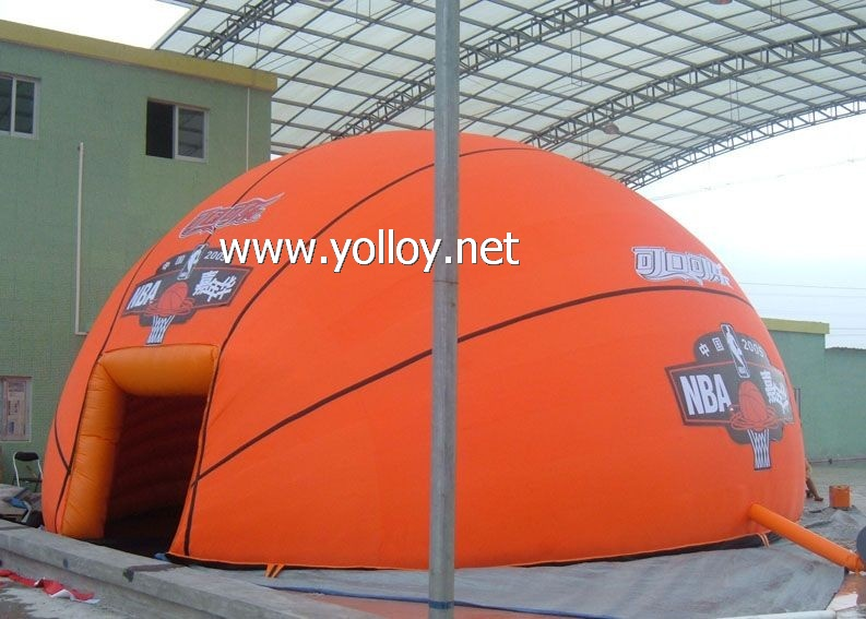 Basketball shape inflatable PVC sport dome tent building