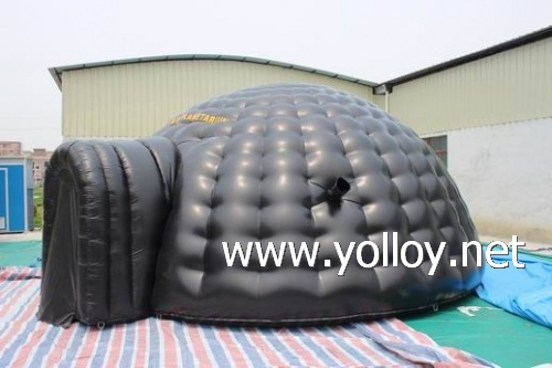 Inflatable Igloo tent ... & Yolloy Black tarpaulin tent double layer mobile inflatable tent ...