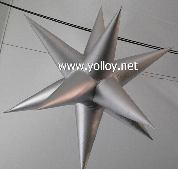 Silver star a idea for party stage decor flashing star droplight