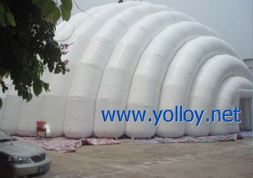 large white inflatable shelter for sports hall tent event
