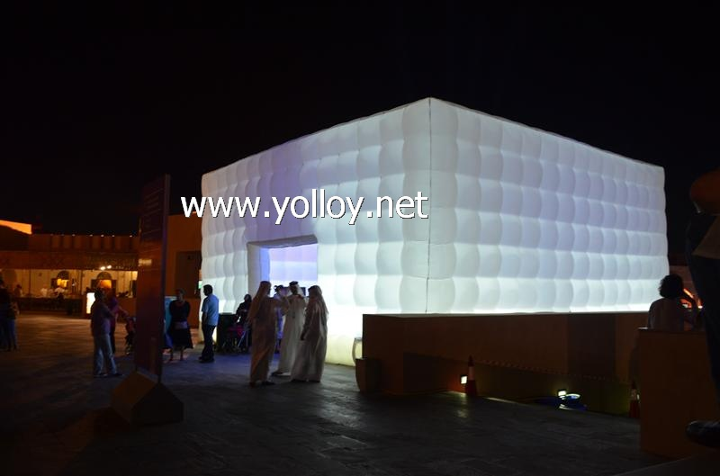 Cube bubble party tent inflatable structure