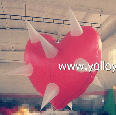 Heart lampshade droplight inflatable