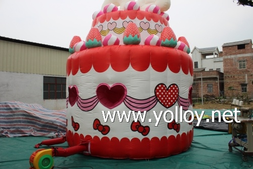Kitty cake bouncer house inflatable building