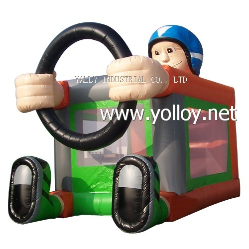 simple inflatable bouncer house man shape