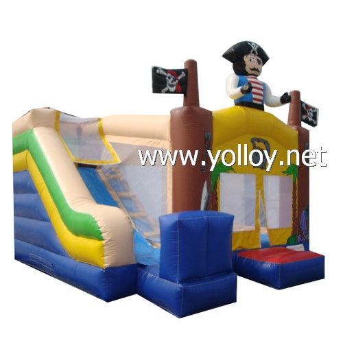 pirate boat inflatable jumping house slide