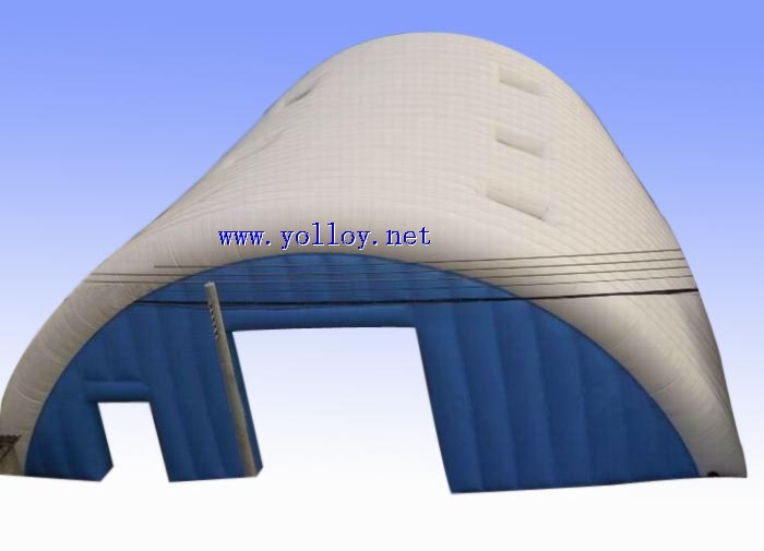 Large inflatable event tent