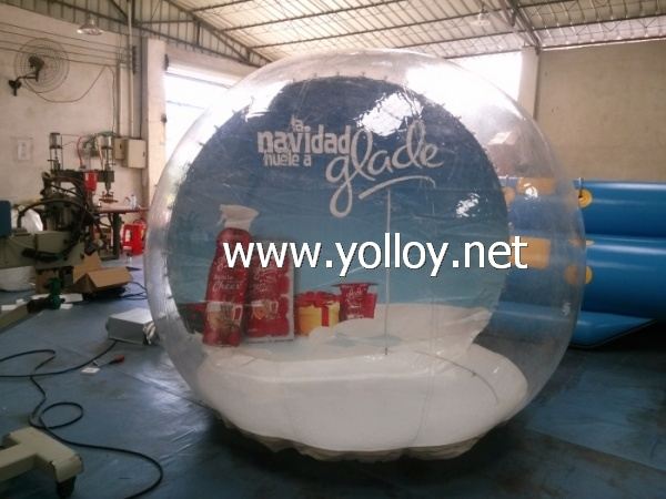 inflatable Christmas snow globe